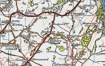 Old map of Buckover in 1919
