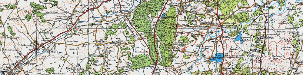 Old map of Alice Holt Lodge (Research Station) in 1919
