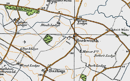 Old map of Buckworth in 1920