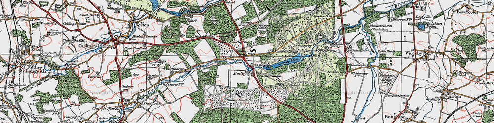 Old map of Budby in 1923