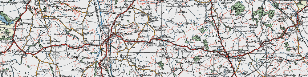 Old map of Woodend in 1921