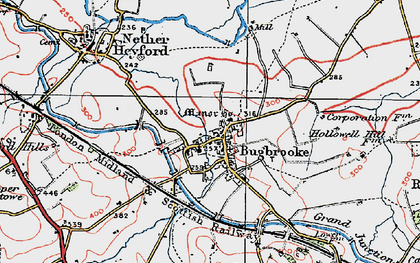 Old map of Bugbrooke in 1919