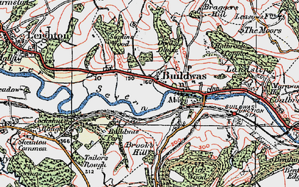 Old map of Buildwas in 1921