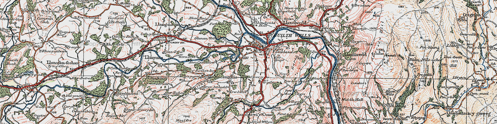 Old map of Abercynithon in 1923