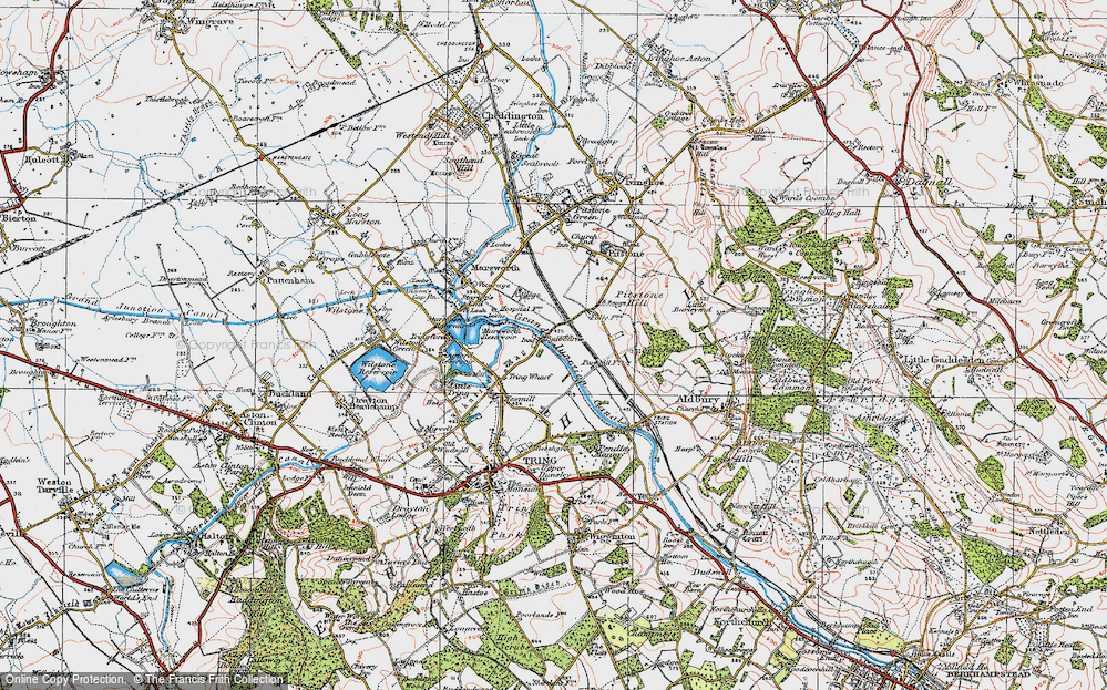 Old Map of Bulbourne, 1920 in 1920