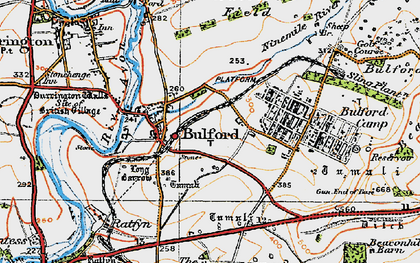 Old map of Bulford in 1919