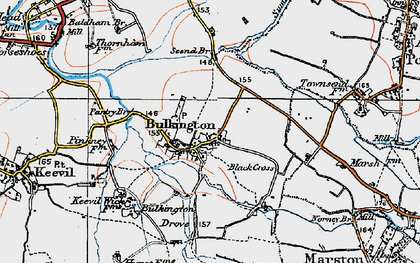 Old map of White Horse Trail in 1919