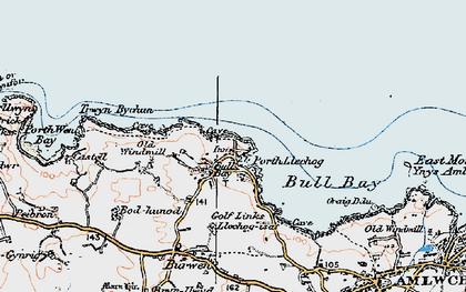 Old map of Bull Bay in 1922
