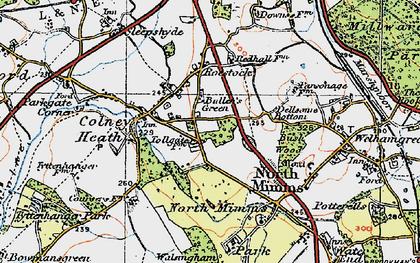 Old map of Bullen's Green in 1920