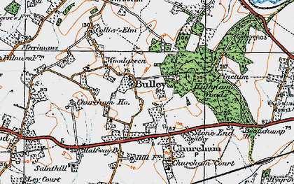 Old map of Woodgreen in 1919