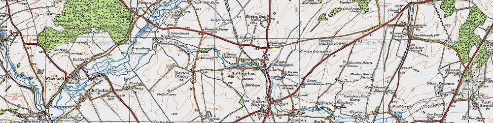 Old map of Tidbury Ring in 1919