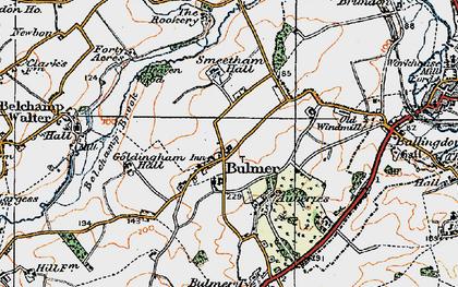 Old map of Bulmer in 1921