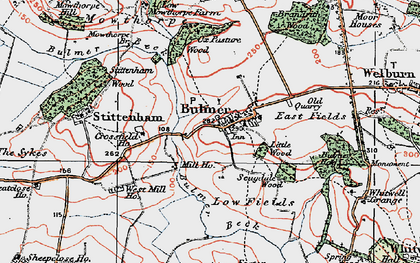 Old map of Bulmer in 1924
