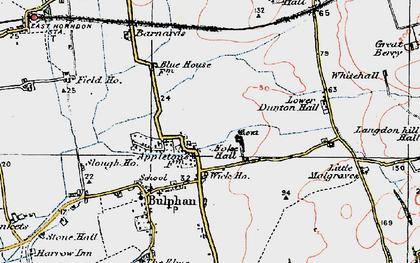 Old map of Bulphan in 1920