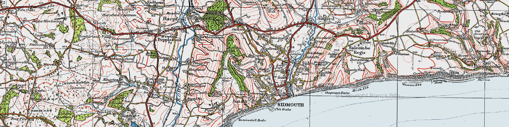 Old map of Wheat Hill in 1919