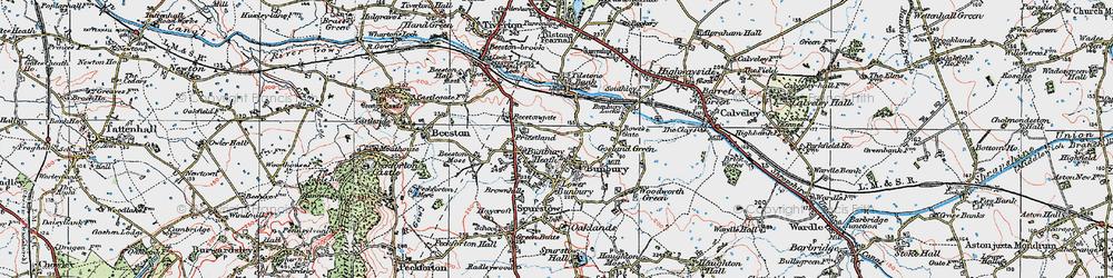 Old map of Bunbury in 1923