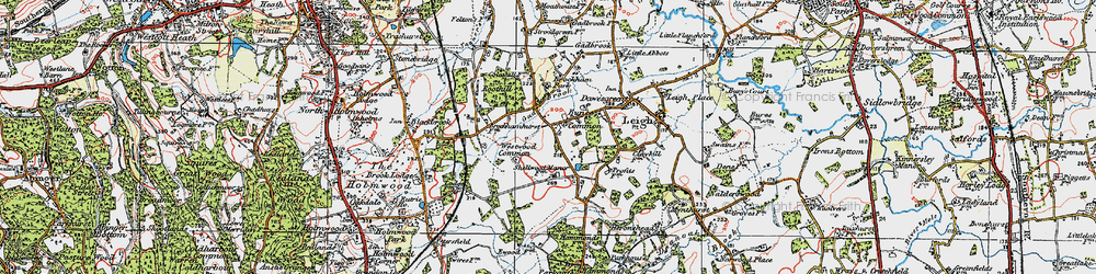 Old map of Westwood Common in 1920