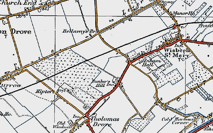 Old map of Bunker's Hill in 1922