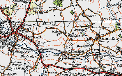Old map of Abbot's Shrub in 1921