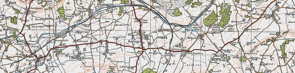 Old map of Wolfhall in 1919