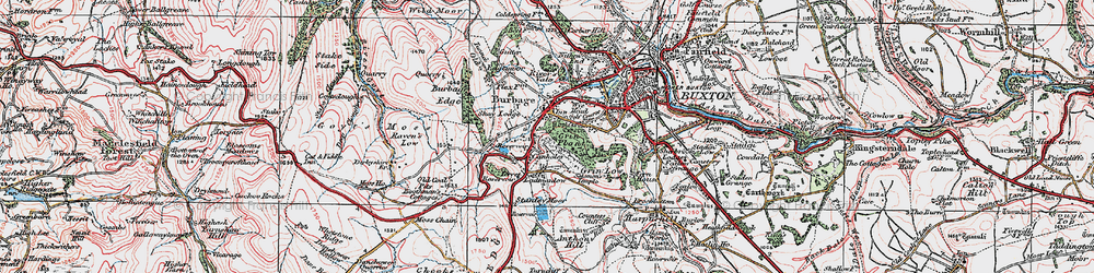 Old map of Wild Moor in 1923