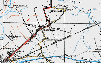Old map of Burcott in 1919