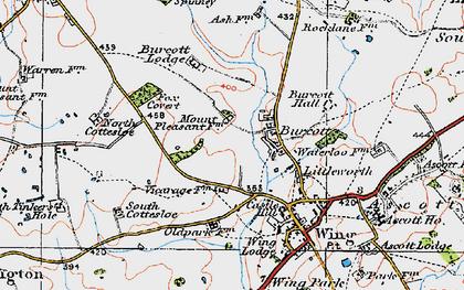 Old map of Burcott in 1919