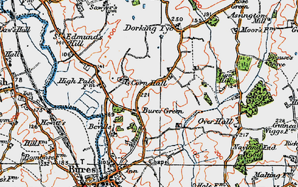 Old map of Wissington Grove in 1921