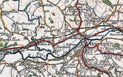 Old map of Ledwich Br in 1920