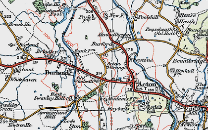 Old map of Acton Grange in 1921