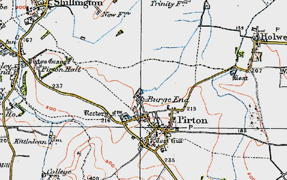 Old map of Burge End in 1919