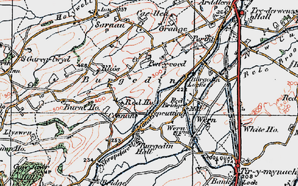 Old map of Burgedin in 1921