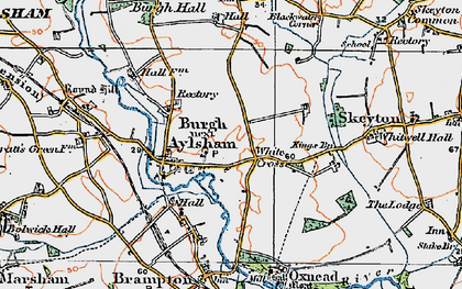 Old map of White Cross in 1922