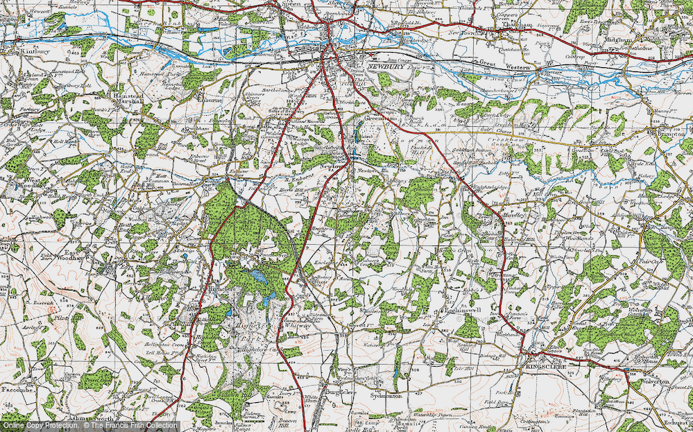 Old Map of Historic Map covering Adbury Park in 1919