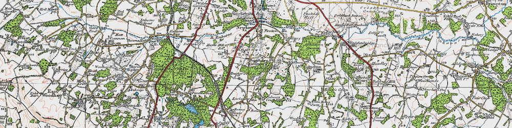 Old map of Adbury Park in 1919