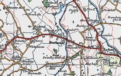 Old map of Bache Ho in 1921