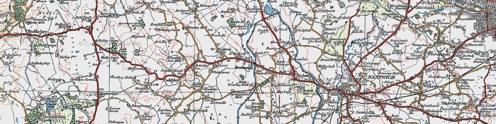 Old map of Whitehaven in 1921