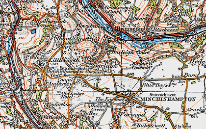 Old map of Burleigh in 1919