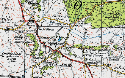 Old map of Burley in 1919
