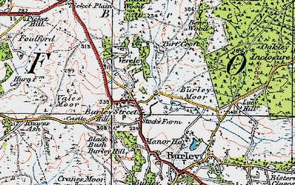 Old map of Backley Plain in 1919