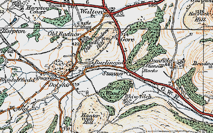 Old map of Worsell Wood in 1920
