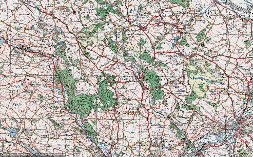 Old Map of Burncross, 1924 in 1924