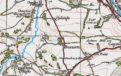 Old map of Burnett in 1919
