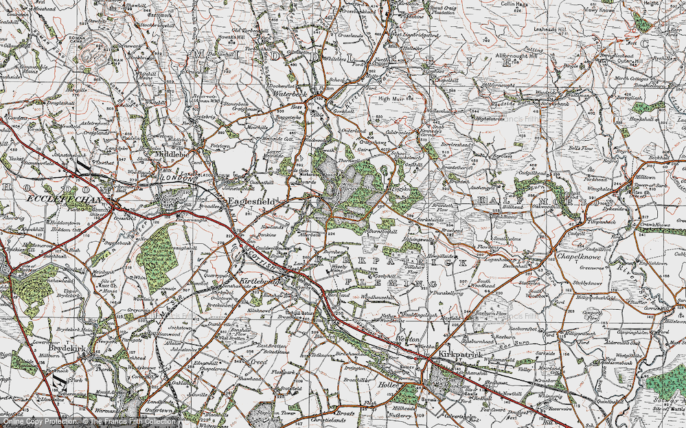 Old Map of Historic Map covering Allerbeck in 1925