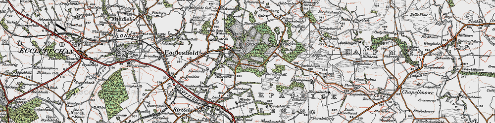 Old map of Wyseby Mains in 1925
