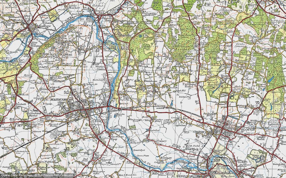 Old Map of Burnham, 1920 in 1920