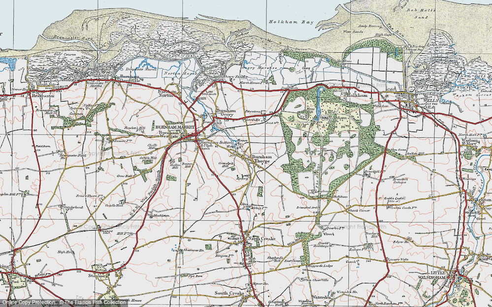 Old Map of Historic Map covering Leath Ho in 1921