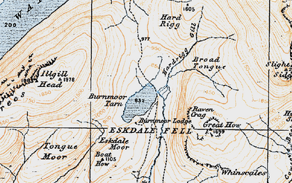 Old map of Whinscales in 1925