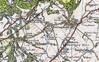 Old map of Burnopfield in 1925