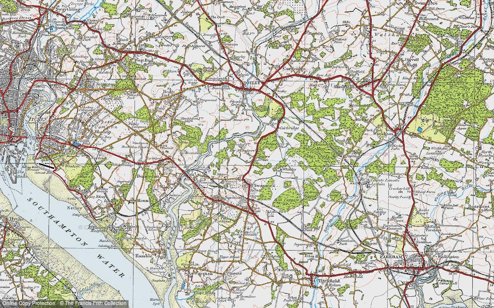 Old Map of Burridge, 1919 in 1919
